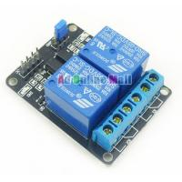Wholesale 5V 2-Channel Relay Module Shield For Arduino ARM PIC AVR DSP Electronic With Optocoupler from china suppliers