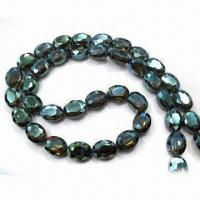 Wholesale Facted crystal glass beads, various colors are available from china suppliers