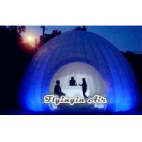 Buy cheap 6m White Lighting Inflatable Trade Show Tent for Exhibition and Party from Wholesalers