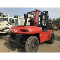China Toyota FD70 Second Hand Diesel Forklifts , 2 Stage Used 5 Ton Forklift for sale