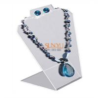 Quality Black Jewellery Necklace Display Stands Two Holes For 2 Necklace And 1 Set for sale