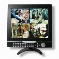 Wholesale 16CH Dual Codec JPEG2000 17-inch LCD DVR with 4CH Audio Recording from china suppliers