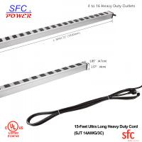 "Quality 24"" Horizontal Metal Multi Socket Extension Lead Grounded 16 Way With Circuit Breaker for sale"