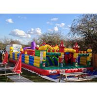 Wholesale CE Outdoor Inflatable Bouncy Castle With Slide , Commercial Adult Bouncy Castle from china suppliers