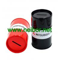 Wholesale Oil drum shape tin money box coin bank as promotion gifts from china suppliers