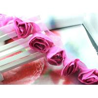 Wholesale fuchsia 3D flower venise lace fabric trim sewing DIY dress cloth/doll L363 from china suppliers