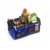 Wholesale Blue Car Trunk Organizer Waterproof Bottom With Velcro Strips To Prevent Sliding from china suppliers
