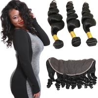 Wholesale Smooth Pure Loose Wave Remy Hair Weave No Shedding Fashionable Color from china suppliers