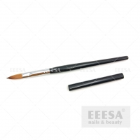 Wholesale Custom With Lid Wooden Black Handle #10 Kolinsky Sable Acrylic Nail Brush from china suppliers