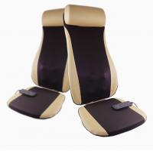 China Golden PU Leather Electric Massage Cushion Shiatsu Massage Chair Cushion on sale