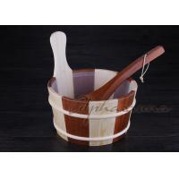 Buy cheap Baltic Leisure Wooden Sauna Bucket And Ladle Set , PE Plastic linner from Wholesalers