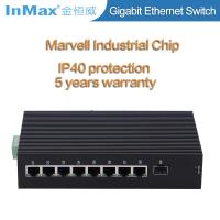 Buy cheap 9 ports 10 /100/1000Mbps gigabit industrial network switch with SFP slot wide from wholesalers