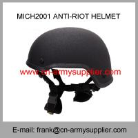 Buy cheap Wholesale Cheap China Army Black Color Mich2001 Police Tactical Anti-Riot Helmet from wholesalers