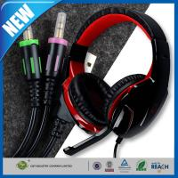 Quality Gaming Headset and Earphone , 3.5mm Volume Control Computer Headset for sale