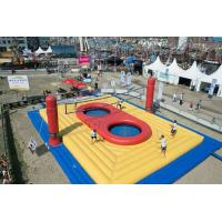 Wholesale Outdoor Inflatable Sports Games , Inflatable Volleyball Court With Trampoline from china suppliers