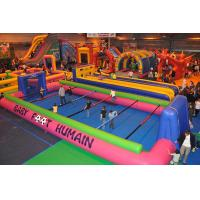 Wholesale Giant Indoor Sport Game Inflatable Soccer Kick Field , Inflatable Court for Soccer Kicking from china suppliers