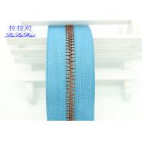 Bright Color Tape 10 Inch Separating Zipper , Long Chain Coil Zipper By The Yard