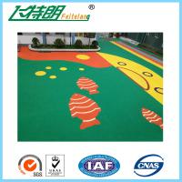 China Non - Toxic Recycled Elastic Rubber Gym Mats / Outdoor Playground Flooring on sale