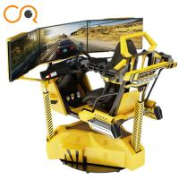 Wholesale Realistic Crazy Car VR Racing Simulator With Electric Cylinder System from china suppliers