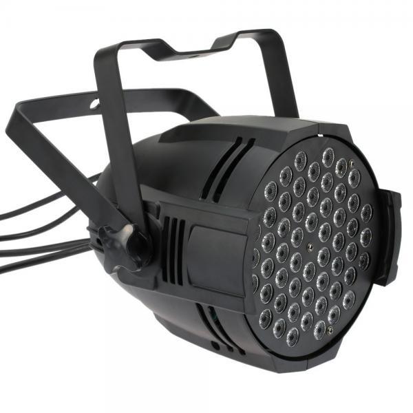 Quality DMX512 Sound Activated 8 DMX Channels RGBW Color Changing 54x3W LED Par 64 Light for Disco KTV Club Party for sale