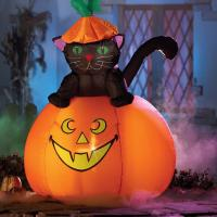 Buy cheap Factory Customized Halloween Party Decoration Inflatable Black Cat from wholesalers