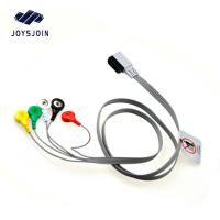 China HP Digitrak XT holter 10-lead snap wires ,AHA TPU material patient cable for ecg machine for sale