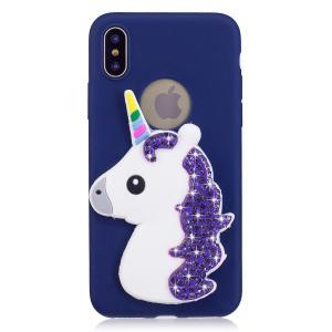 China 3D Cartoon Animal  RhinestoneSilicone Soft Bling Glitter shockproof tpu phone case for iphone 7/8 on sale