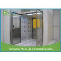 Electric Interlock Cargo Goods Air Shower Tunnel With Double Doors For Cleanroom for sale