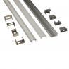 Silver Matt Square / Round Anodized Aluminium LED Profiles For LED Frame for sale