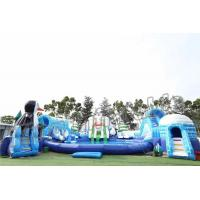 Wholesale Adult Outdoor Inflatable Water Parks , Pool Obstacle Course Play Equipment from china suppliers