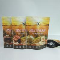 China Resealable Foil Pouch Packaging Food Pouches Cereal Rice Seed Nuts Bag Full Color Printed for sale