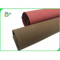 Good Toughness Colorful Red / Green Washable Kraft Natural Paper For Plant Bag for sale