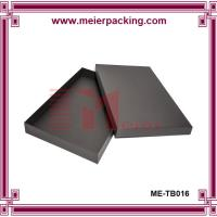 Wholesale Bespoke Black Paper Clothing Robes Box with Engraved Logo ME-TB016 from china suppliers