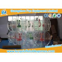 Clear Soccer Bubble Inflatable Hamster Ball 1.2m / 1.5m Dia For Rental