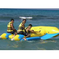 Wholesale Yellow 0.9mm PVC Inflatable Fly Fish Inflatable Toy Boat For Water Game from china suppliers