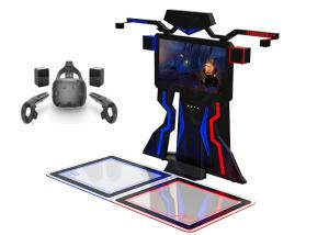 Wholesale Amusement Interactive 9D Vr Shooting Simulator VR Walk Platform For 2 Players from china suppliers