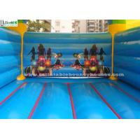 China 5x4 mts outdoor Let's party kids inflatable bouncy castle made with 610g/m2 pvc tarpaulin on sale