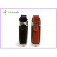 Wholesale Personalized Leather USB Flash Drive with Customized Silk-screen Logo from china suppliers