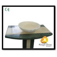 China Xiamen Kungfu Stone Ltd supply White Onyx Tops Stone Sink For Indoor Kitchen,Bathroom for sale
