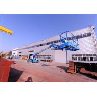 China Solid Tires Straight Boom Manlift ,Indoor Boom Lift Full Time Positive Traction Drive for sale