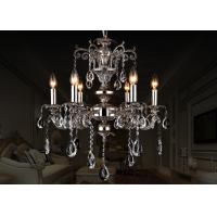 China Black European Retro Crystal Chandelier 6 Light , Antique Traditional Glass Chandeliers on sale
