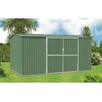 Quality 10x10 Galvanised Steel Metal Garden Shed For Tools Storage With Double Swing Door for sale