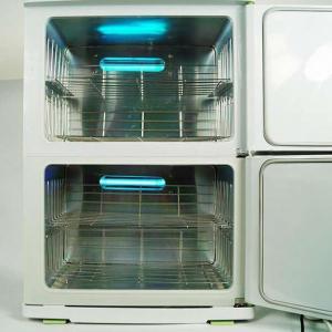 Quality 46L Double - Deck Uv Sterilizer Cabinet Towel Warmer , Double Door Tool Sterilizer Machine for sale