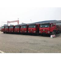 Wholesale 25T 336hp 371hp HOWO Dump Truck 6 X 4 10 Wheel Red Color Steering ZF8118 from china suppliers