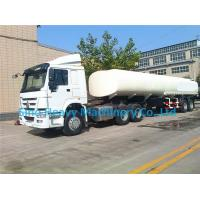 Wholesale White HOWO 2300L Tank Trailer Trucks , 42 m³ Diesel Semi Trailer Truck from china suppliers