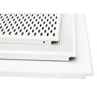 Commercial Project Aluminum Hollow Perforated Ceiling Tiles Clip In Sound - Absorbing for sale