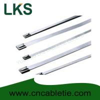 Wholesale 7.9*1200mm 316/304/201 grade Ball-lock stainless steel cable tie from china suppliers