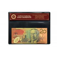 China Colored Gold Banknote 24k GOLD 99.9 Australian $20 Banknote for Business on sale
