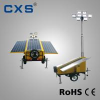 China Mobile Solar Trailer Mounted Light Towers American Standard Brake Traction Equipment on sale