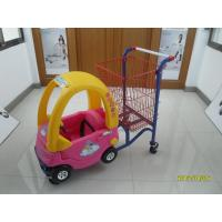 Wholesale 95L Low Carbon Steel / Plastic Children Shopping Cart With Red Powder Coating from china suppliers